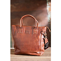Beck Bridle Leather Tote Bag, Cognac Western & Country