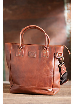 Beck Bridle Leather Tote Bag