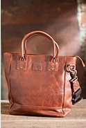 Will Beck Bridle Leather Tote Bag