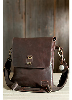 Otis Expandable Bridle Leather Messenger Bag