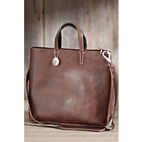 Douglas Italian Leather Tote Bag, Brown Western & Country