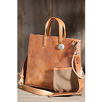 Douglas Leather Tote Bag, NATURAL, Size 1 Size