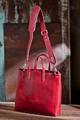 Douglas Italian Leather Tote Bag