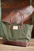 Utility Canvas and Leather Tote Bag