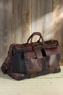 Will Traveler Canvas and Leather Duffel Bag