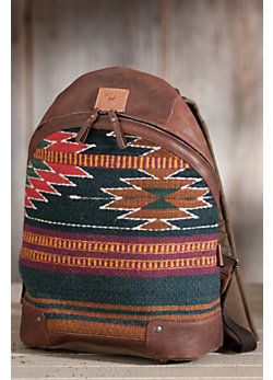 Oaxacan Wool and Leather Backpack