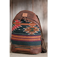 Oaxacan Hand-Woven Wool And Leather Backpack Western & Country