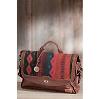 Oaxacan Hand-Woven Wool And Leather Messenger Bag Western & Country