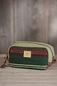 Oaxacan Hand-Woven Wool and Leather Travel Kit