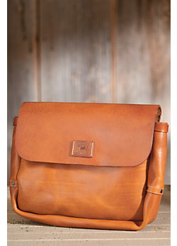 Douglas Italian Leather Postal Bag