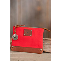 Tobin Canvas And Leather Pouch, Red / Saddle Western & Country