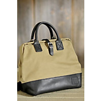 "12"" Canvas And Leather Mason Bag Western & Country"