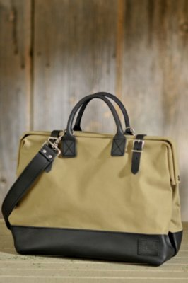 """Will 16"""" Canvas and Leather Mason Bag"""