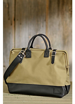"Will 16"" Canvas and Leather Mason Bag"