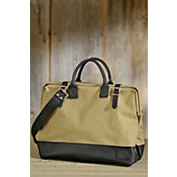 "16"" Canvas And Leather Mason Bag Western & Country"