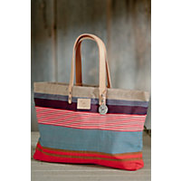 Weaver'S House Reversible Cotton Canvas Tote Bag, Orange Multi Western & Country