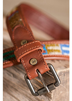 Oaxacan Wool and Leather Belt