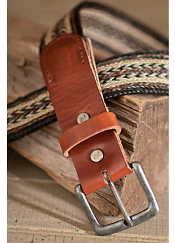 Arrow Horse Hair Leather Belt