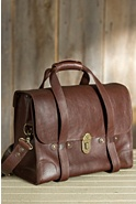 Everett Vintage Leather Satchel with Strap