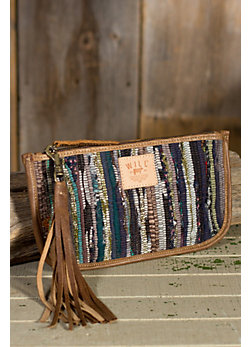 Indian Silk Rag Rug Clutch