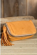 Avery Deerskin Leather Cosmetic Case