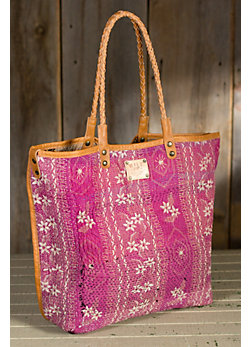 Will Reversible Quilted Silk Tote Bag