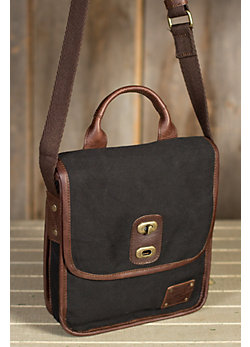 Perry Canvas Messenger Bag