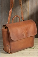 Will Douglas Italian Leather Postal Bag