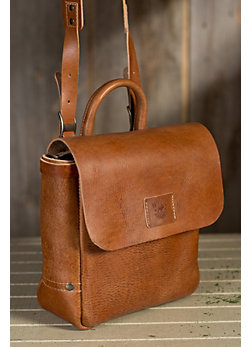 Will Douglas Italian Leather Messenger Bag