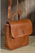 Douglas Italian Leather Messenger Bag