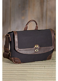 Will Dennis Canvas and Leather Messenger Bag