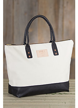 Will Getaway Canvas and Leather Tote Bag