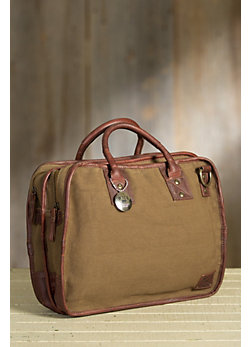 Will Aldridge Canvas and Leather Satchel
