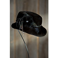 """Women's Canadian Mink Fur Hat With Rhinestone Trim, Ranch, Size 23 (Small / Medium 22.5- 23"""" Circumference) Western & Country"""
