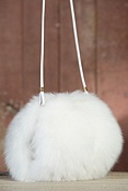 Women's Norwegian Fox Fur Muff Handbag