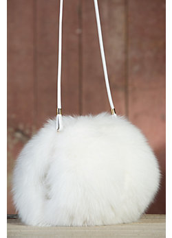 Norwegian Fox Fur Muff Handbag