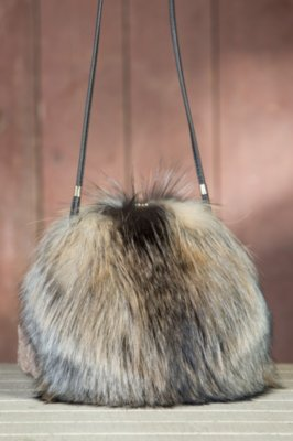 Canadian Fox Fur Muff Handbag