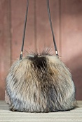 Women's Canadian Fox Fur Muff Handbag