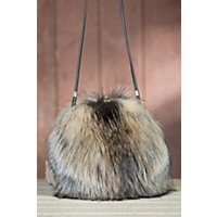 Canadian Fox Fur Muff Handbag $795.00 AT vintagedancer.com