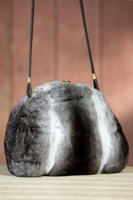 Chinchilla Fur Muff Handbag