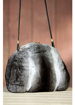 Women's Chinchilla Fur Muff Handbag