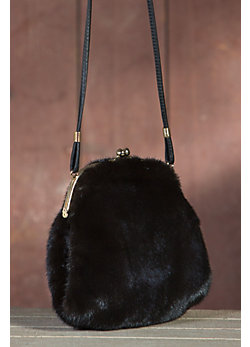 Women's Mink Fur Muff Handbag