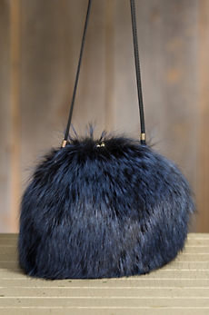Canada Red Fox Fur Muff Crossbody Handbag