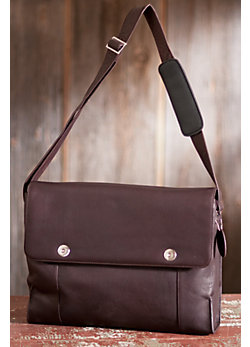 Leather Computer Messenger Bag