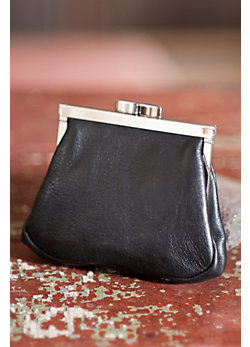 Women's Framed Leather Coin Purse