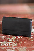Trifold Leather Clutch Wallet
