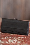 Women's Deluxe Framed Leather Wallet