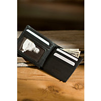Id Thin Fold Leather Wallet, Black Western & Country