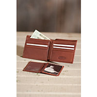 Leather Wallet With Removable Id Case, Brandy Western & Country