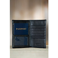 Leather Passport Wallet, Black Western & Country